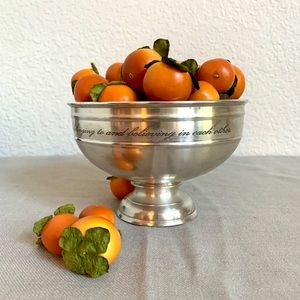 Antique Silver Sentiment Snack Bowl - Pottery Barn